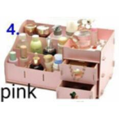Review Toko Besar Rak Kosmetik Kayu Besar Diy Make Up Storage Box