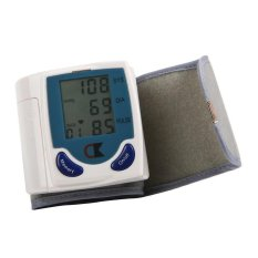 Harga Best Ct Digital Lcd Wrist Cuff Arm Blood Pressure Monitor Heart Beat Meter Machine Putih Best Ct Ori