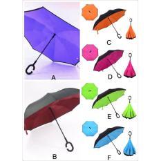 Best Seller Payung Kazbrella Payung Terbalik Polos Reverse Umbrella Double Layer Bagus Multi Diskon 30