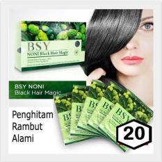 Best Seller Sampo Penghitam Rambut - BSY Noni BPOM Black Hair Shampo - 20 Sachet