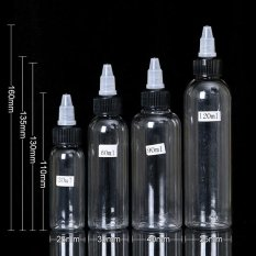 Spesifikasi Besta 10 Pcs 60 Ml 2 Oz Putih Twist Cap Kosong Plastik Tato Tinta Pigmen Clear Pet Botol Supply Intl Merk Oem