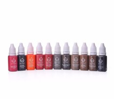 Spesifikasi Besta 12Pcs Tattoo Inks Permanent 1 2 Oz One Bottle Makeup Pigments For Eyebrow Eyeliner Lip Complete Cosmetic Tattoo Inks Set Intl Murah Berkualitas