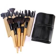 BESTOPE 32 Pcs Profesional Makeup Brushes Set Sintetis Kakubi Kosmetik Alas Bedak Makeup Alas Bedak Mac Makeup Brush Kit dengan Kulit Tas Tas Tas Perjalanan-Intl