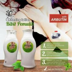 Bibit Pemutih Whitening Lotion Pemutih Badan BPOM 100ml - 1 Pcs + Free Ikat rambut Polkadope - 1 Pcs