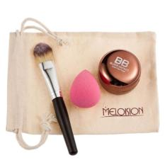 Bigskyie Promosi Meloision Warna Concealer + Kuas Bedak + Engah + Kombinasi Tas Super-Internasional