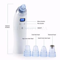Toko Jual Binzim 5 Level Comedo Suction Microdermabrasion Diamond Machine Blackhead Removal 4 Replaceable Heads Rechargeable Acne Pigment Remover Cosmetic Pore Cleaner Set White Intl