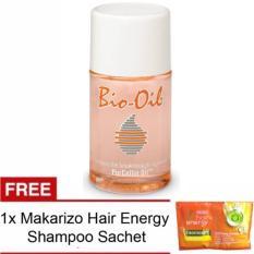Bio Oil Penghilang Bekas Luka Stretchmark FREE Makarizo Hair Energy Shampoo 1 Sachet  - 60 ml
