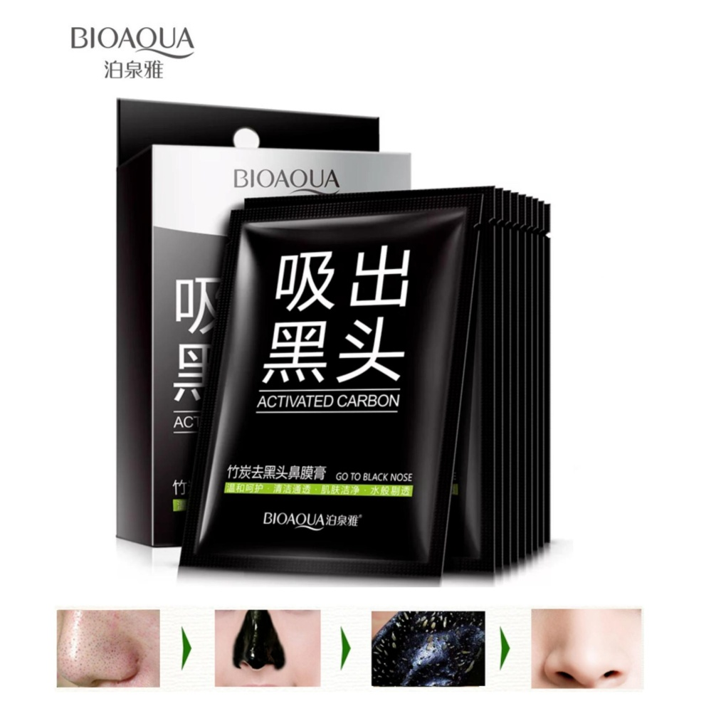 Buy Sell Cheapest Bioaqua Actived Carbon Best Quality Product Masker Charcoal Mask Box Anti Komedo Peel Off 10 Pcs