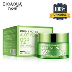 Review Tentang Bioaqua Aloe Vera 92 Original Refresh Moisture Serum Wajah Essence Soothing Gel Krim Wajah Anti Kerut Anti Penuaan 50Gr