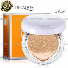 Bioaqua BB Cream Air Cushion Bedak Wajah with SPF50++ Krim BB Cushion Dengan Tabir Surya Menyejukan Kulit - Natural Tone