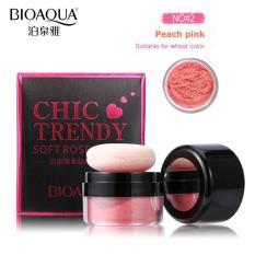 Bioaqua Chic Trendy Soft Rose Blush On Powder Original - Perona Pipi No#2 Peach Pink