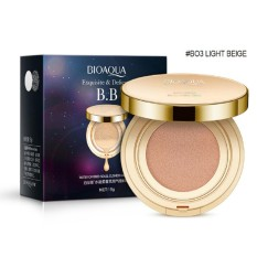 Obral Bioaqua Exquisite And Delicate Bb Cream Air Cushion Pack Gold Case Spf 50 Foundation Make Up Beige Light Skin Murah