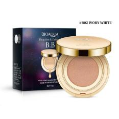 Bioaqua Exquisite and Delicate BB Cream Air Cushion Pack Gold Case SPF 50++ Foundation Make Up-Ivory White