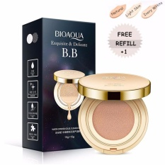Diskon Bioaqua Exquisite And Delicate Bb Cream Air Cushion Pack Gold Case Spf 50 Foundation Make Up Wajah Bersih Free Refill Ivory White