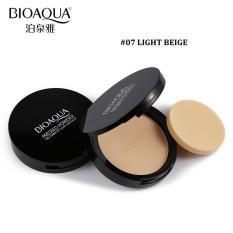 BIOAQUA Make Up Professional Pressed Powder Foundation Bedak Padat-Light Beige