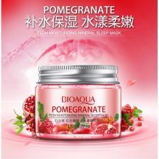 Promo Bioaqua Pomegranate Fruit Tender Sleep Mask Pomegranate Masker Wajah F*c**l Over Night Mask 120Gr Di Indonesia