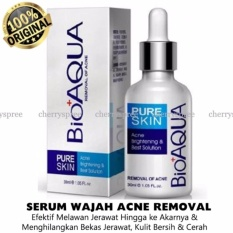 Spesifikasi Bioaqua Serum Wajah Anti Jerawat Pure Skin Acne Removal Serum Efektif Menghilangkan Jerawat Hingg Ke Akarnya Menyamarkan Bekas Jerawat Kulit Wajah Lebih Bersih Cerah 30Ml Yg Baik