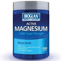 Dimana Beli Bioglan Active Magnesium 1000Mg Kesehatan Otot 150 Tablets Bioglan