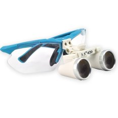 Biru 3,5X420mm Dokter Gigi Dental Medical Bedah Teropong Loupes Optik Kaca Pembesar