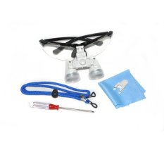 Hitam 3.5X320mm Dentist Dental Bedah Medis Teropong Loupes Kaca Optik Loupe (...)