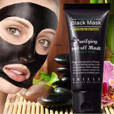 Black Mask Deep Cleansing Purifying Peel Off Mask Masker Pembersih Komedo 1Pcs Black Mask Diskon 50