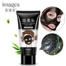 BLACK MASK IMAGES REMOVE BLACKHEADS CLEAN PORES - Masker Penghilang Komedo