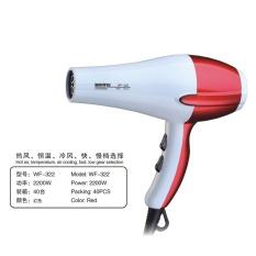Blower Berdaya Tinggi Anion, Pengering Rambut Peralatan Rumah Tangga untuk Mempercantik Meniup Rambut Ram (merah)-Intl
