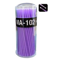 Bluelans® Kuas Micro Bulu Mata Ekstensi Sekali Pakai Aplikator Maskara 100 Pcs Ungu