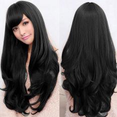 Bluelans® Fashion wanita Lolita Keriting Bergelombang Panjang Penuh Wig  Tahan Panas Cosplay Party Rambut 0841fc2793