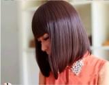 Kualitas Bob Gaya Rapi Poni Menengah Panjang Rambut Wig Internasional Oem