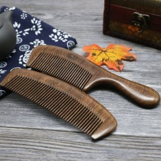 Body mini anti-electrostatic green Sandalwood wood the black Sandalwood wood comb Sandalwood wood comb wood comb a peach wood and then hold small comb with - intl