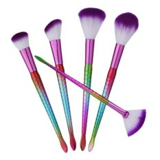 BolehDeals 5 Pieces Makeup Blush On dan FOUNDATION Bubuk Perona Mata Wajah Kuas Bibir Kit-Intl
