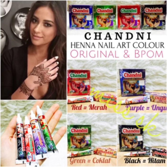 Harga Preferensial Box Besar Isi 12 Pc Chandni Henna Nail Art