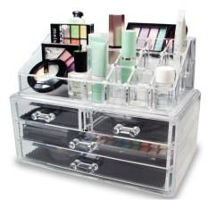 Packingan Bubble Wrap - Box Penyimpanan Tempat kosmetik 3 Susun 4 Laci lipstik Storage Acrylic