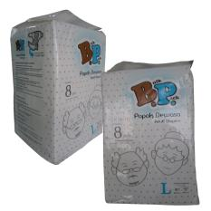 Bp Adult Diapers / Popok Dewasa - Size L - 8 Pcs ( 2 Pack = 16 Pcs )