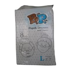 Bp Adult Diapers / Popok Dewasa - Size L - 8 Pcs