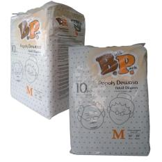 Bp Adult Diapers / Popok Dewasa - Size M - 10 Pcs ( 2 Pack = 20 Pcs )