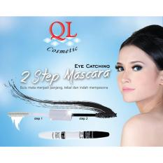 BPOM QL Mascara 2 Step Eye Catching Double Extension Untuk Bulu Mata Lentik dan Panjang - Waterproof Black 1pc