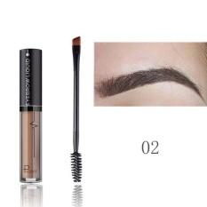 Brand Eye Brow Tint Cosmetics Waterproof Cat Tahan Lama Eyebrow Black Brown Pensil Alis Gel Makeup 02 Warna-Intl