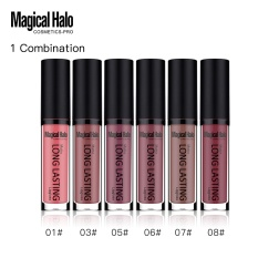 Merek Magical Halo 6 Warna Matte Lipgloss Non-stick Cup Waterproof Long Lasting Liquid Lipstik Lip Gloss Tint Set dari 6 Pieces-Intl