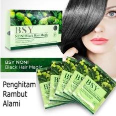 BSY Noni Black Hair Magic Shampo isi 5pc