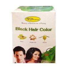 Miliki Segera Bsy Premium Black Hair Color Shampoo Cat Rambut Semir Rambut Menutup Uban Menghitamkan Rambut