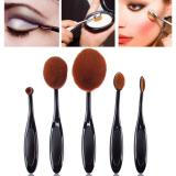Beli Buy In Coins 5 Pcs Hitam Sikat Gigi Berbentuk Foundation Power Makeup Oval Cream Puff Brushes Set Intl