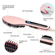Spesifikasi Catok Sisir Pelurus Rambut Fast Hair Straightener Hqt906 Pink Baru