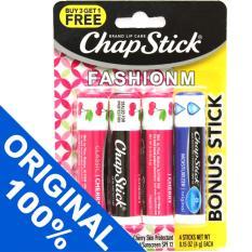 Obral Chapstick Classic Cherry Moisturizer Original Spf12 Lip Balm 4Pcs Murah