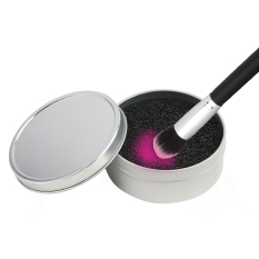 Beli Cheer Color Makeup Brush Clean Eye Shadow Sponge Cleaner Tool Iron Box Switch Cicilan