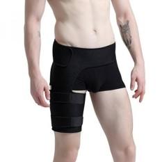 ChinFun Hip Stabilizer dan Pangkal Paha Brace Adjustable Paha Kaki Pendukung Kompresi Bungkus Lengan Saraf Sciatic Quad Hamstring Sendi Ketegangan Otot Cedera Lebih Cepat Pain Relief Recovery Unisex Hitam-Intl