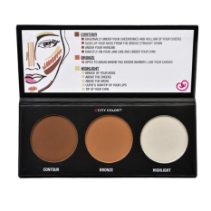 City Color Effects Palette - Contour Bronze Highlight