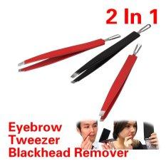 Bersih Black Dirt Alis Di Jepang Blackhead Rmover Tool 2 In1 Makeup Tool-Intl