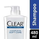 Jual Clear Shampo Anti Ketombe Complete Soft Care 480Ml Clear Original
